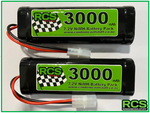 2 x 7.2v 3000maH NiMH Battery for RC cars