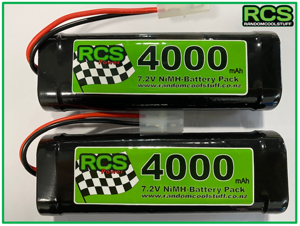 2 x 7.2v 4000maH NiMH Battery for RC cars