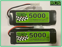 2 x 7.2v 5000maH NiMH Battery for RC cars