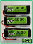 3 x 7.2v 3000maH NiMH Battery for RC cars