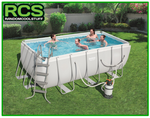 Bestway Swimming Pool 4.12m - Steel Frame Pool - SAND FILTER