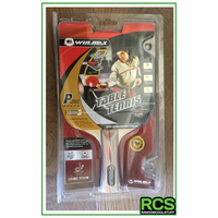 2 x Table Tennis Paddles - Red/Black - 5 Stars