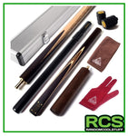 "Snooker/Pool Cue Hand-Spliced 57"" - with Alloy Case. #305"