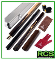 "Snooker/Pool Cue Hand-Spliced 57"" - with Alloy Case - CODE: 305"