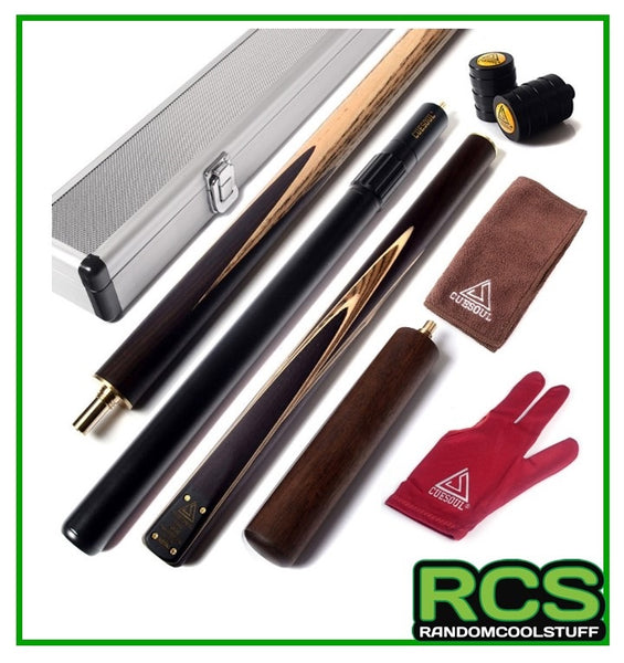 "Snooker/Pool Cue Hand-Spliced 57"" - with Alloy Case - 305"