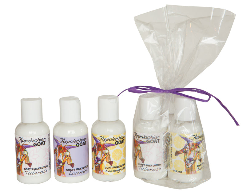 TRAVEL GOAT's MILK LOTIONS 3 PACK