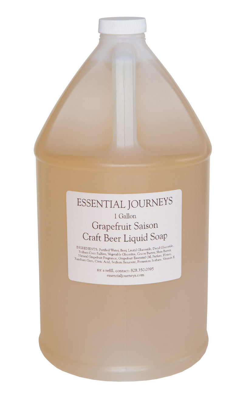 GRAPEFRUIT SAISON CRAFT BEER SOAP ~ ONE GALLON REFILL LIQUID SOAP