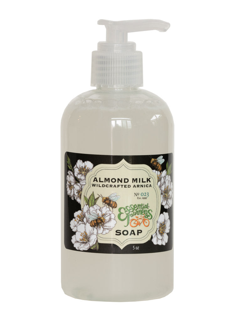 ALMOND MILK with WILDCRAFTED ARNICA Liquid Hand & Body Soap 8 oz.