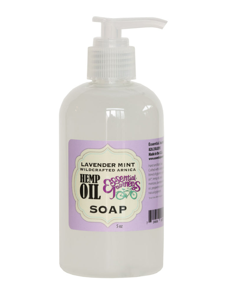 LAVENDER MINT with HEMP OIL & WILDCRAFTED ARNICA Liquid Hand & Body Soap 8 oz.