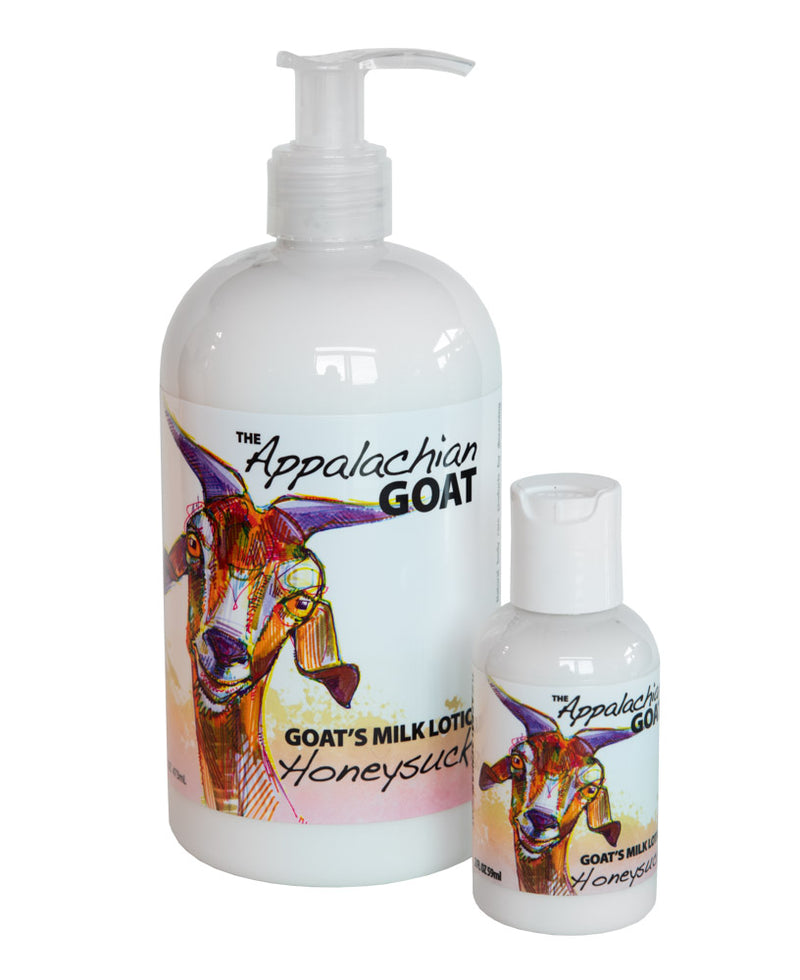 HONEYSUCKLE GOAT'S MILK LOTION 16 oz. & 2 oz.