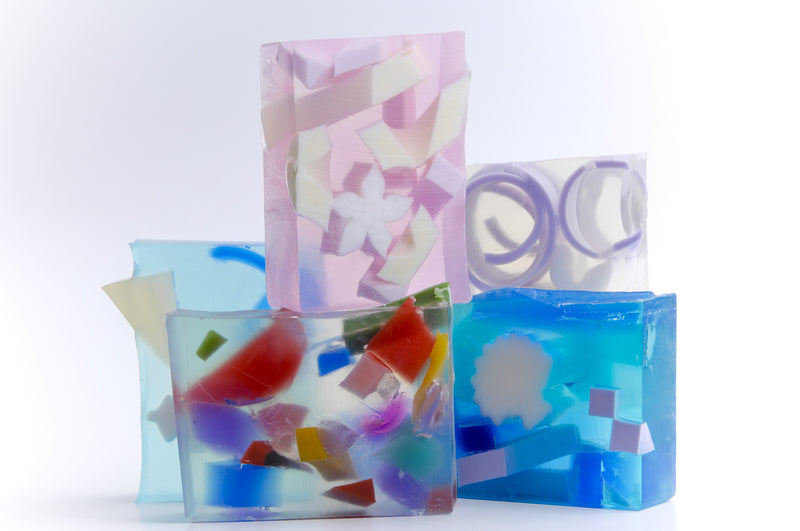 Summer 2018 Grab Bag: 5 Soaps + one 8 oz. Lotion + one 8 oz. Liquid Soap & FREE SHIPPING