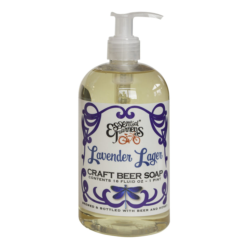 LAVENDER LAGER CRAFT BEER SOAP ~ 16 oz. LIQUID SOAP
