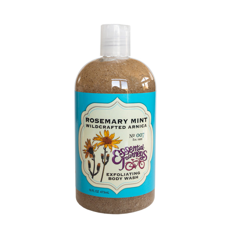 ROSEMARY MINT EXFOLIATING BODY WASH 16 oz. (with Arnica & Epsom Salt)