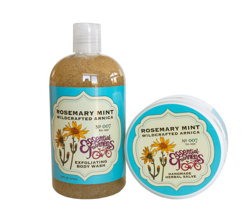 ROSEMARY MINT ARNICA SALVE & EXFOLIATING BODY WASH