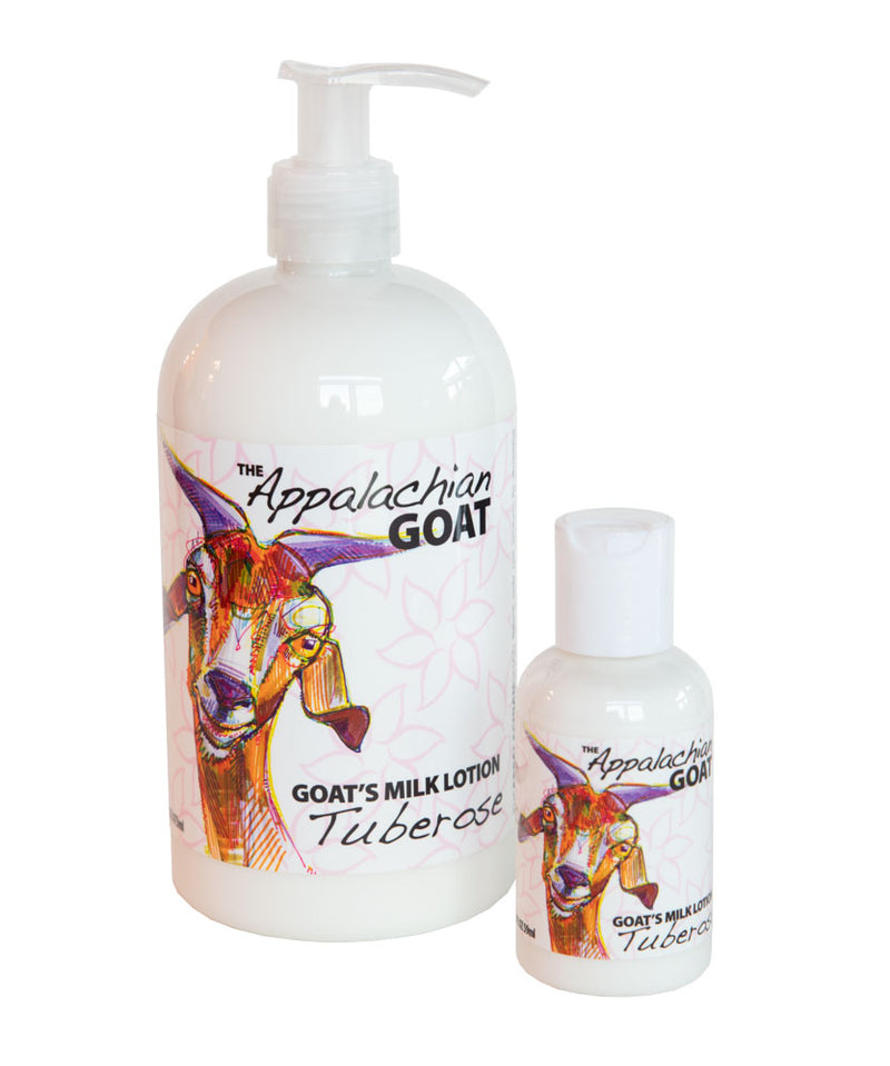 TUBEROSE GOAT'S MILK LOTION 16 oz & 2 oz
