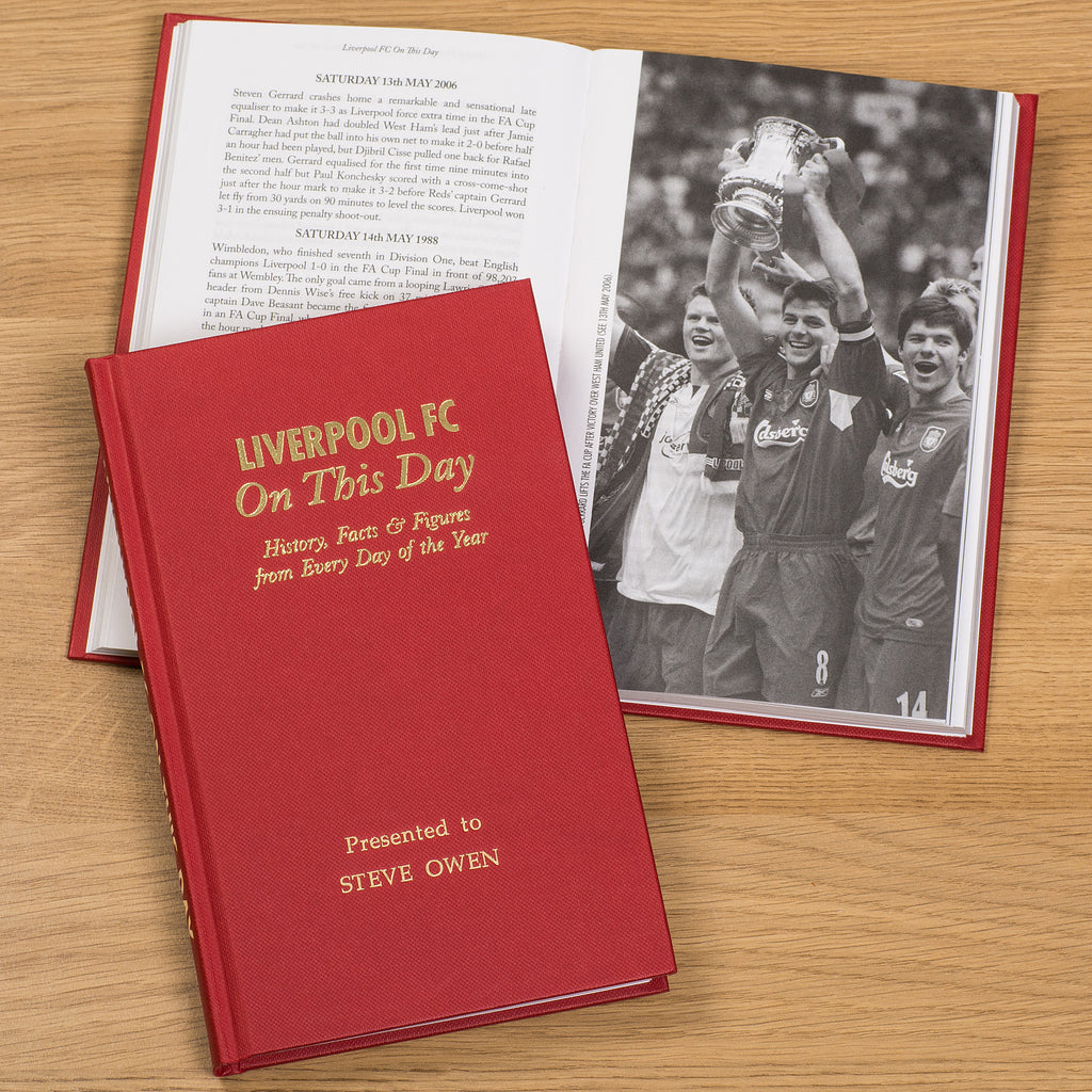 Personlised Book Liverpool On This Day History Gift Anfield Daglish Rush Gerrard