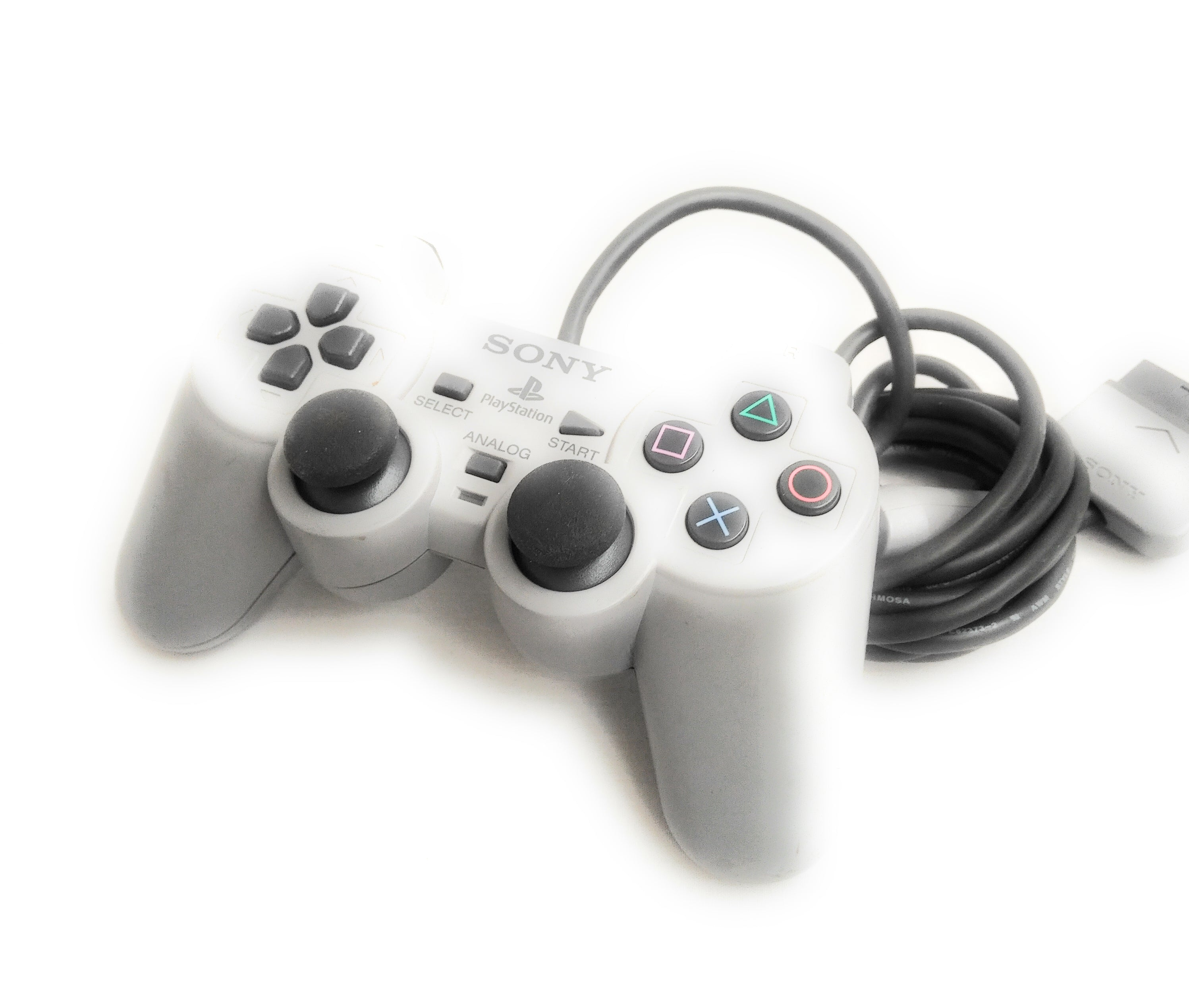 Official Sony PlayStation 1 PS1 Dual Shock Analog Controller-Grey