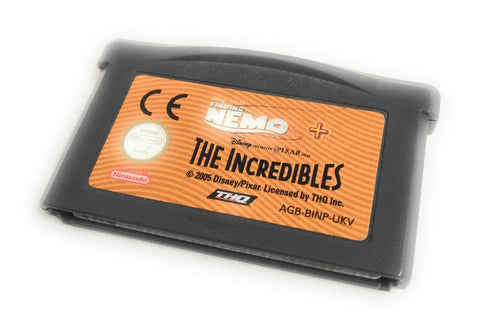 FINDING NEMO & THE INCREDIBLES • GAMEBOY ADVANCE • CART ONLY