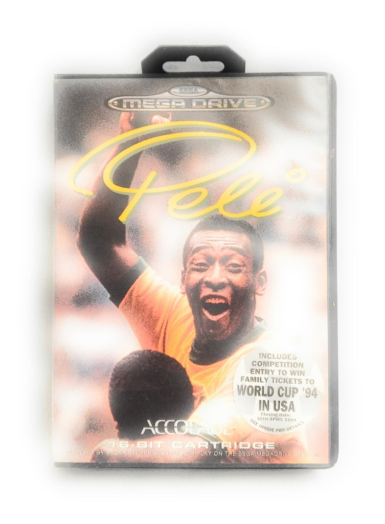 Sega Mega Drive Video Game * PELE * Rare Retro Boxed