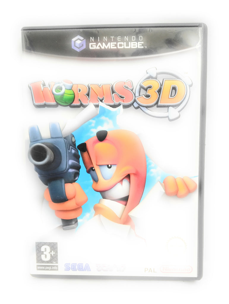 WORMS 3D - Nintendo Gamecube - PAL - Complete with manual