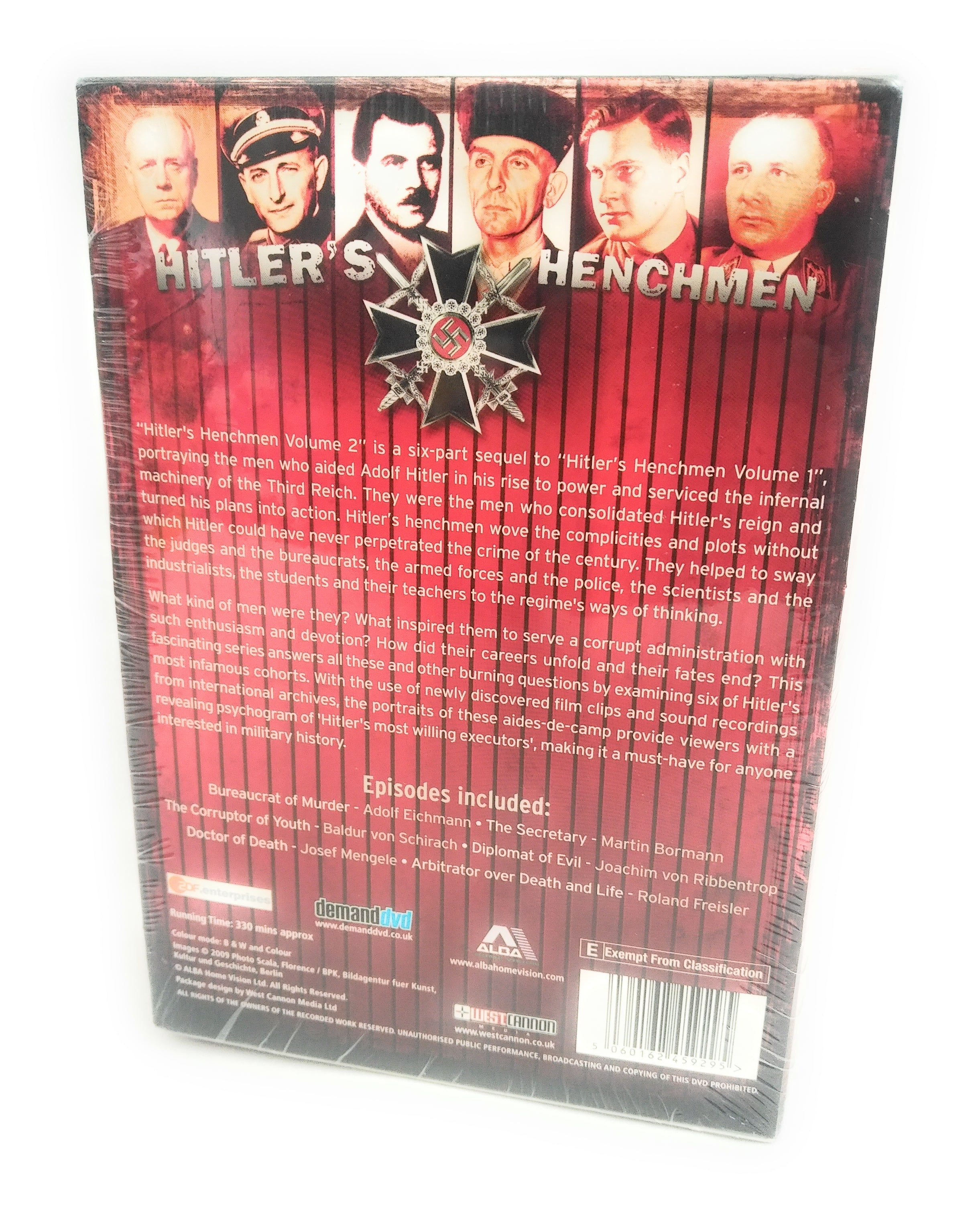 Hitler's Henchmen: Volume 2 DVD (2011) Adolf Hitler Brand New Sealed