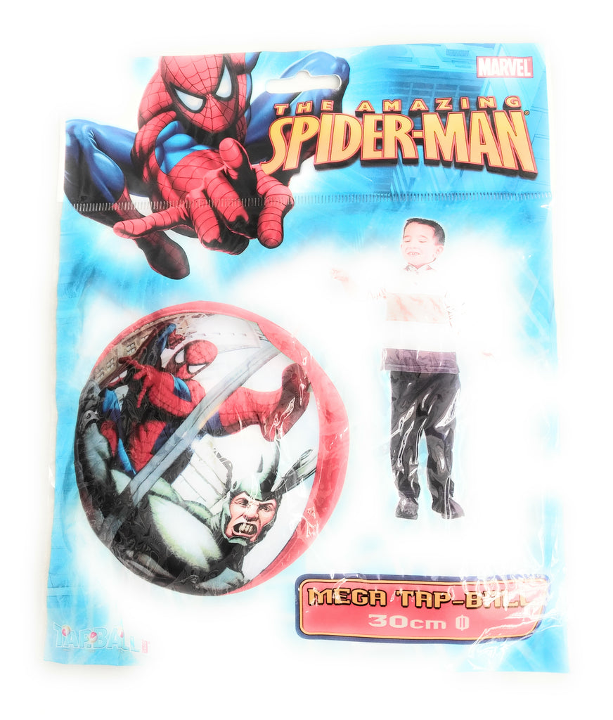 Kids Marvel The Amazing Spider-Man Inflatable Mega Tap Ball Toy 30cm