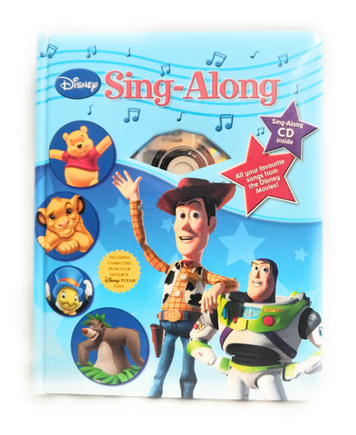 DISNEY TOY STORY SING ALONG CD & BOOK LION KING JUNGLE BOOK