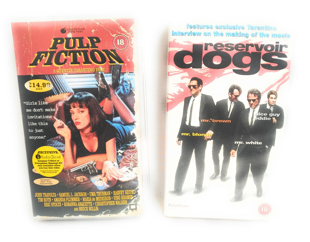Pulp Fiction & Reservior Dogs VHS Collectable Movies Free UK Postage