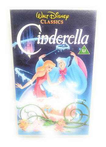 CINDERELLA - ORIGINAL DISNEY HOLOGRAMS - VHS PAL (UK) VIDEO