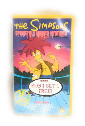 THE SIMPSONS HEAVEN AND HELL & Springfield Murder Mysreries VHS
