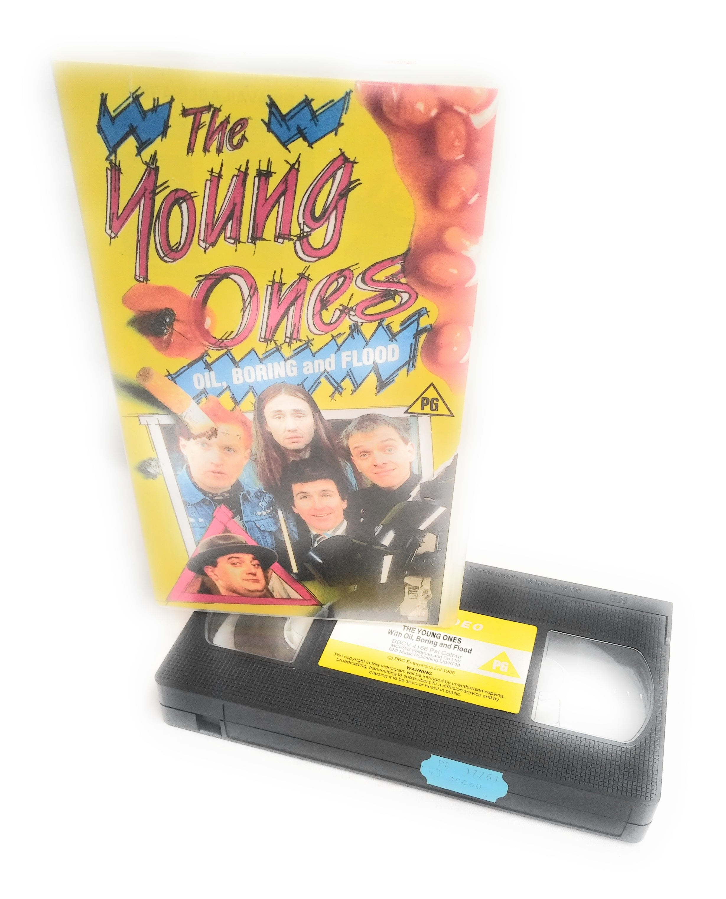 The Young Ones VHS Oil Boring And Flood Rare