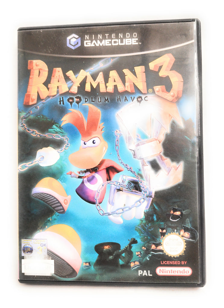 Rayman 3 Hoodlum Havoc Nintendo GameCube PAL Game Complete  Inlay & Manual