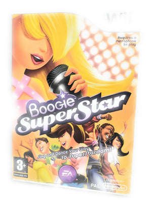 BOOGIE SUPERSTAR Music Singing Game for Nintendo Wii & Wii U
