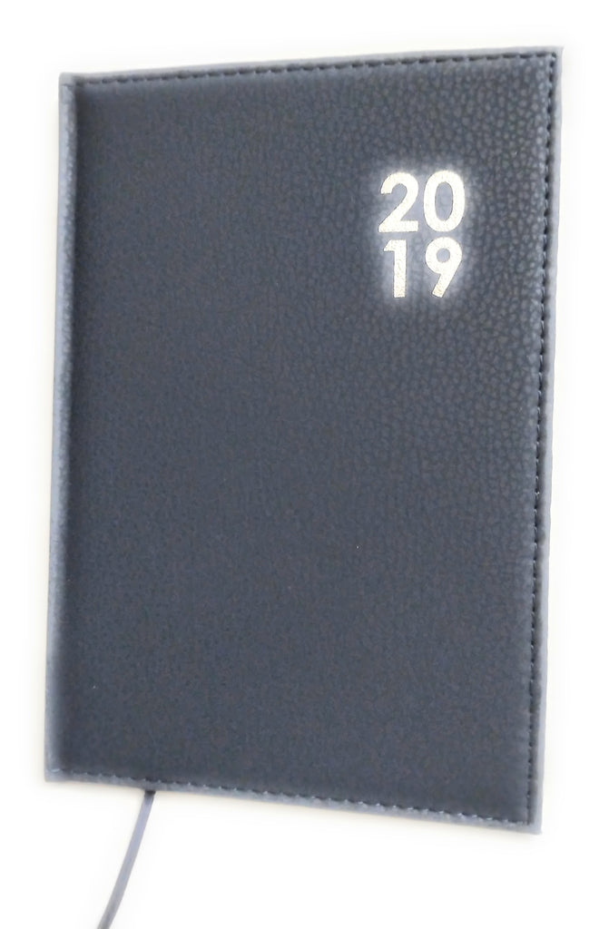 2019 Diary A5 Premium Padded Organiser Week To View Blue Xmas Gift