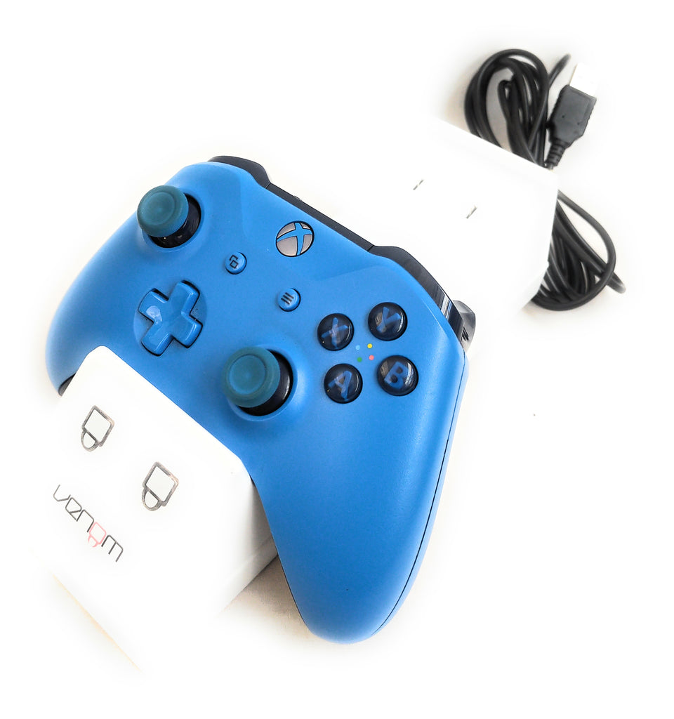 Xbox One - Genuine Official Wireless Controller - Blue Limited Edition With Charger