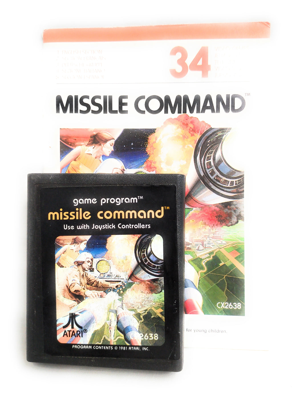 Missile Command (Atari 2600) CX2638 with Manual