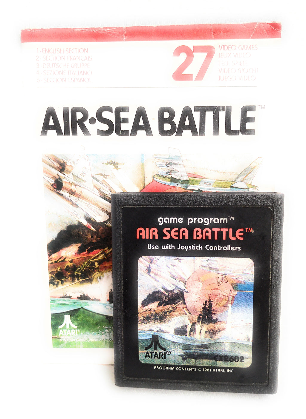 Air Sea Battle for the Atari 2600 / 7800 Console  Complete with manual