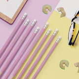 Personalised 12 Pink Glitter Lead Pencils In A Pink Box