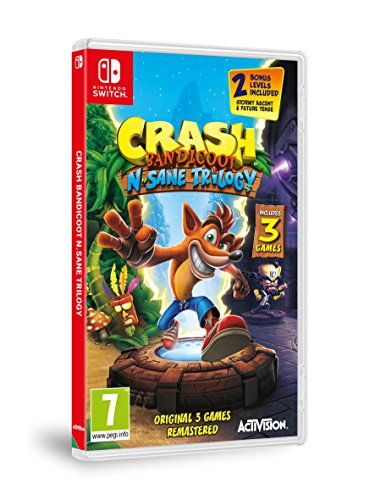 Crash Bandicoot N. Sane Trilogy (Nintendo Switch) New Free Shipping