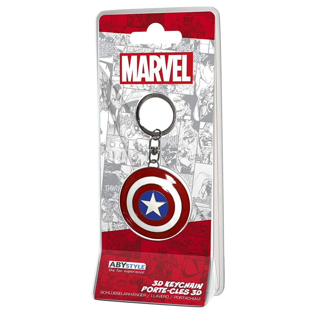 Marvel - Captain America Shield 3D Keychain Keyring End Game Official Product