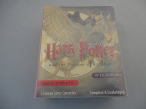 HARRY POTTER AND THE PRISONER OF AZKABAN AUDIO BOOK CASSETTE
