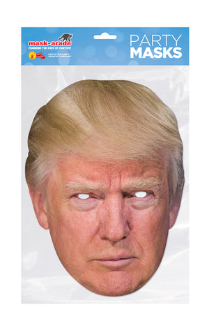 Donald Trump New 2017 Single 2D Card Party Face Mask - President of the USA