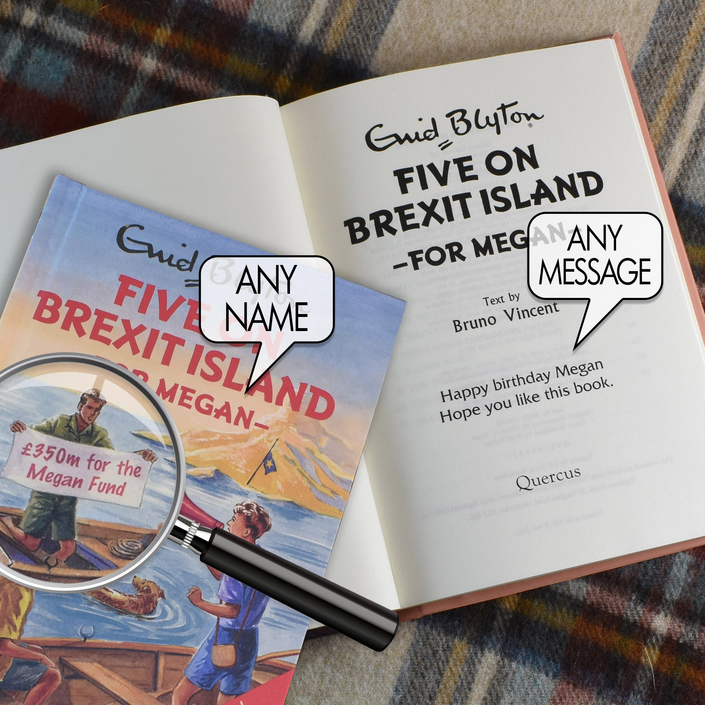 Personalised The Famous Five For Grown Ups Five on Brexit Island