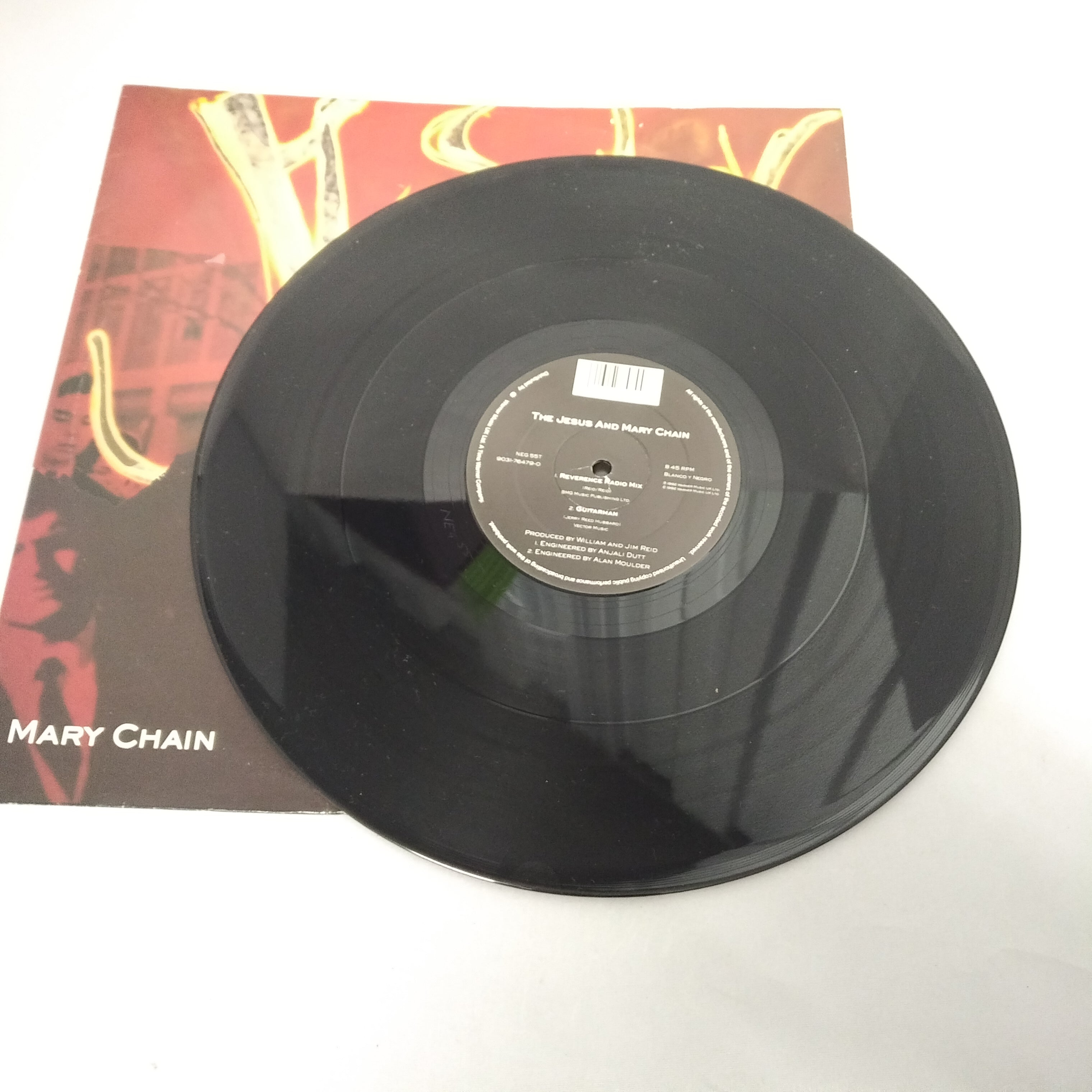 "JESUS AND MARY CHAIN Reverence 12"" VINYL UK Blanco Y Negro 1992 4 Track"
