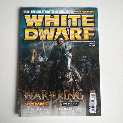 White Dwarf Magazine WD352 April 2009 War of the Ring A25