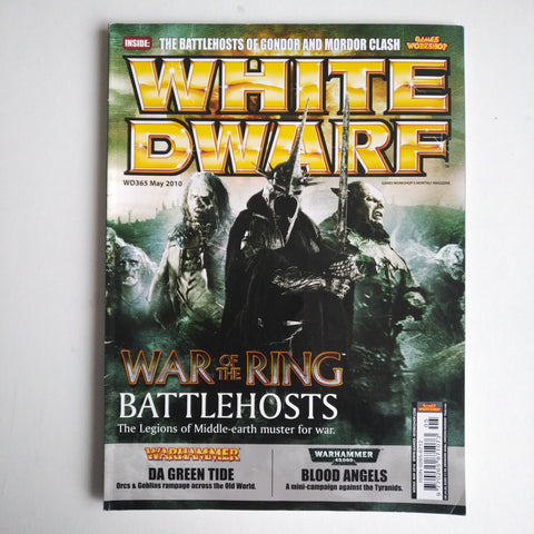 White Dwarf Magazine No.365 May 2010 MBox2853/A War of the Ring Battlehosts