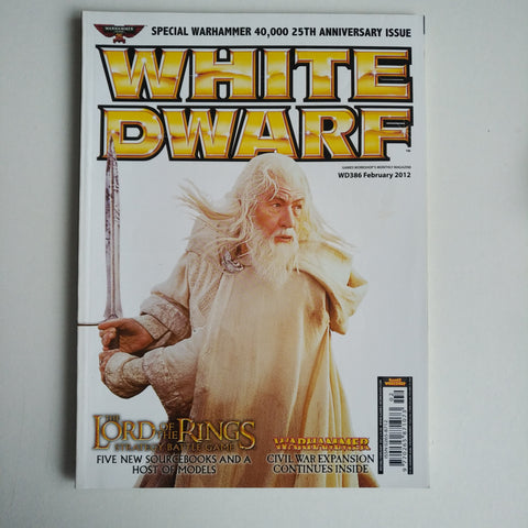 WHITE DWARF MAGAZINE ISSUE #386 FEBRUARY 2012 LORD OF THE RINGS