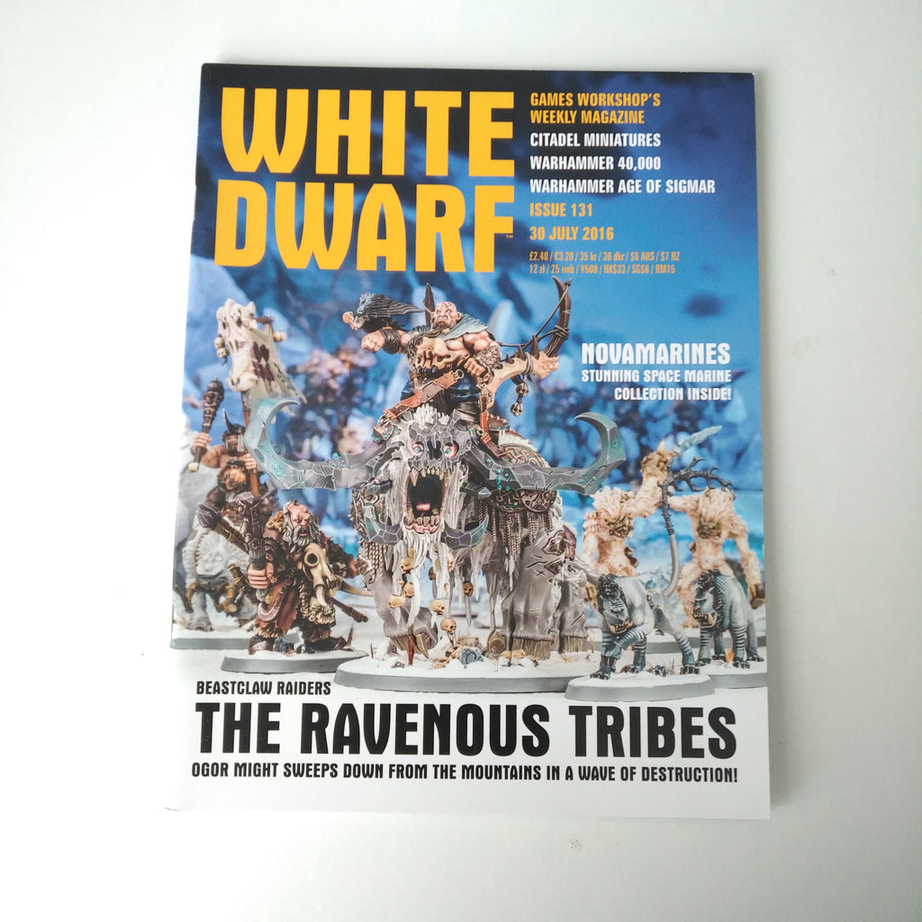 White Dwarf Magazine 30 July 2016 Issue 131 Games Workshop Beastclaw Raiders