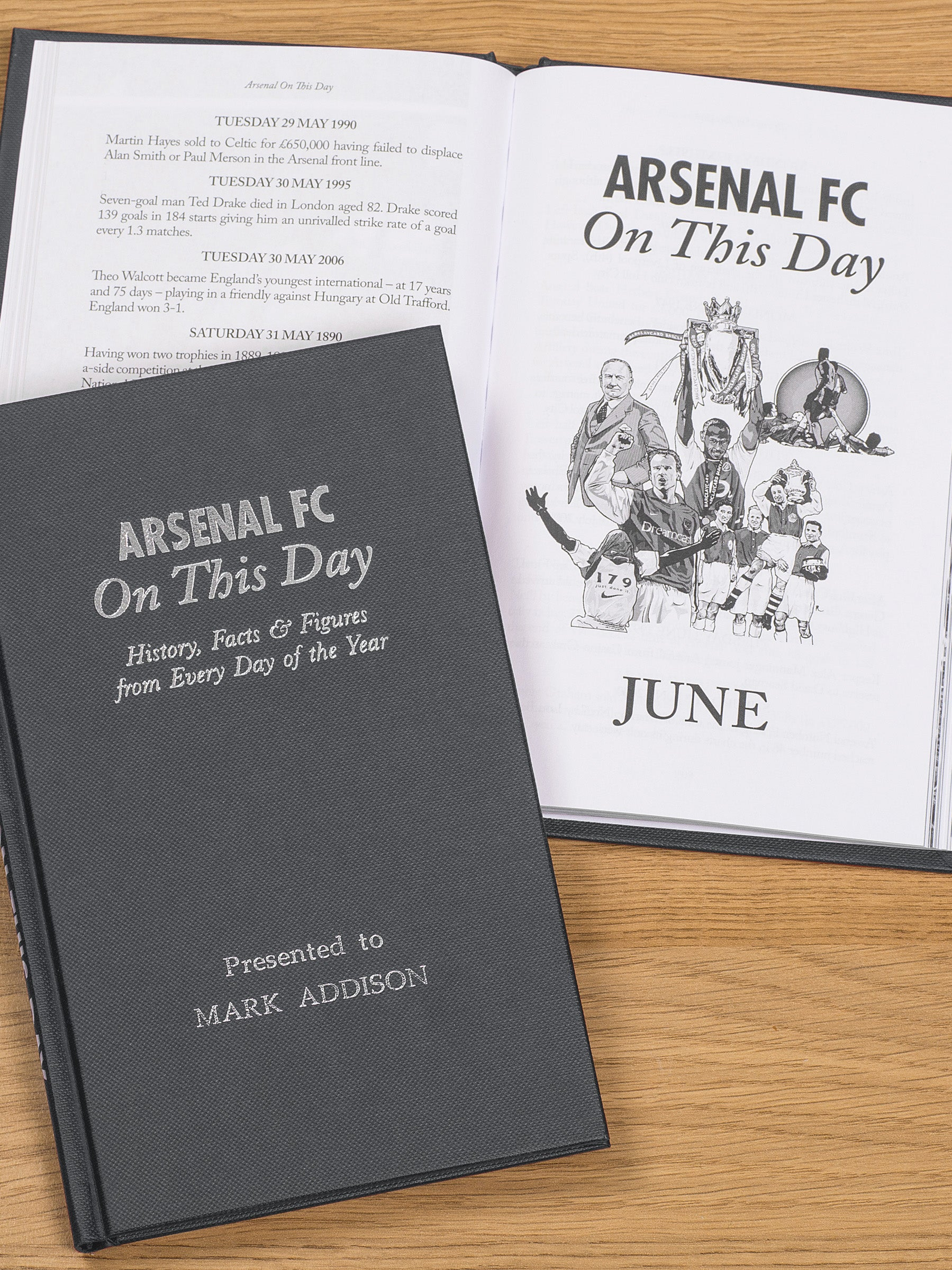 Personalised Book Arsenal On This Day History Gunners Henry Bergkamp Wenger