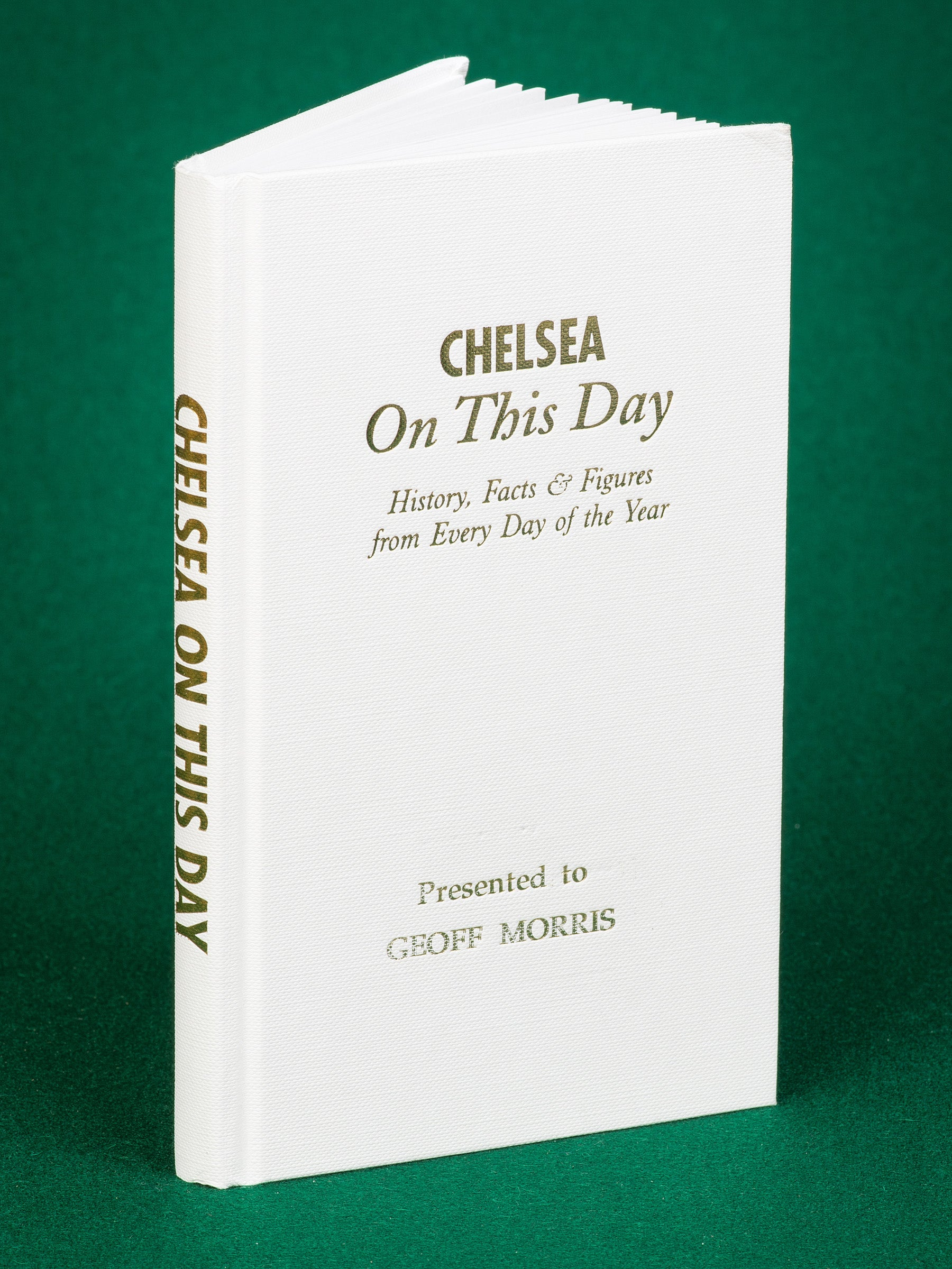 Personlised Book Chelsea On This Day History Gift Stamford Bridge Jose Terry